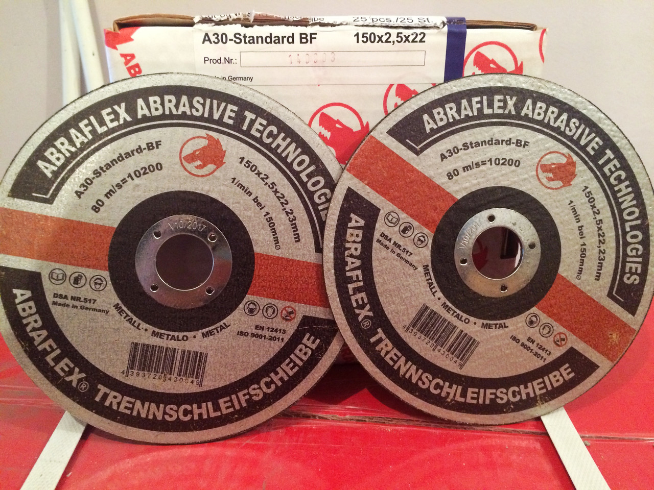 Круг отрезной Abraflex A-30 Standart BF  (металл) 150x1,6x22