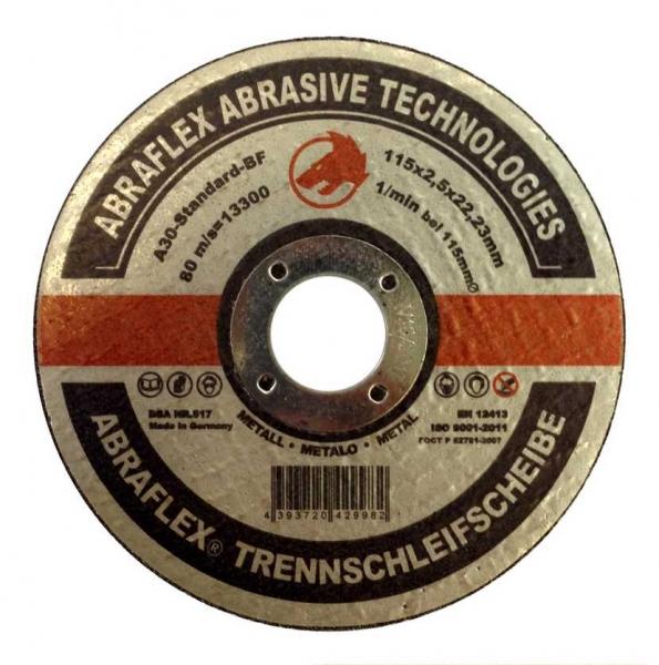 Круг отрезной Abraflex A-30 Standart BF  (металл) 115x1,0x22