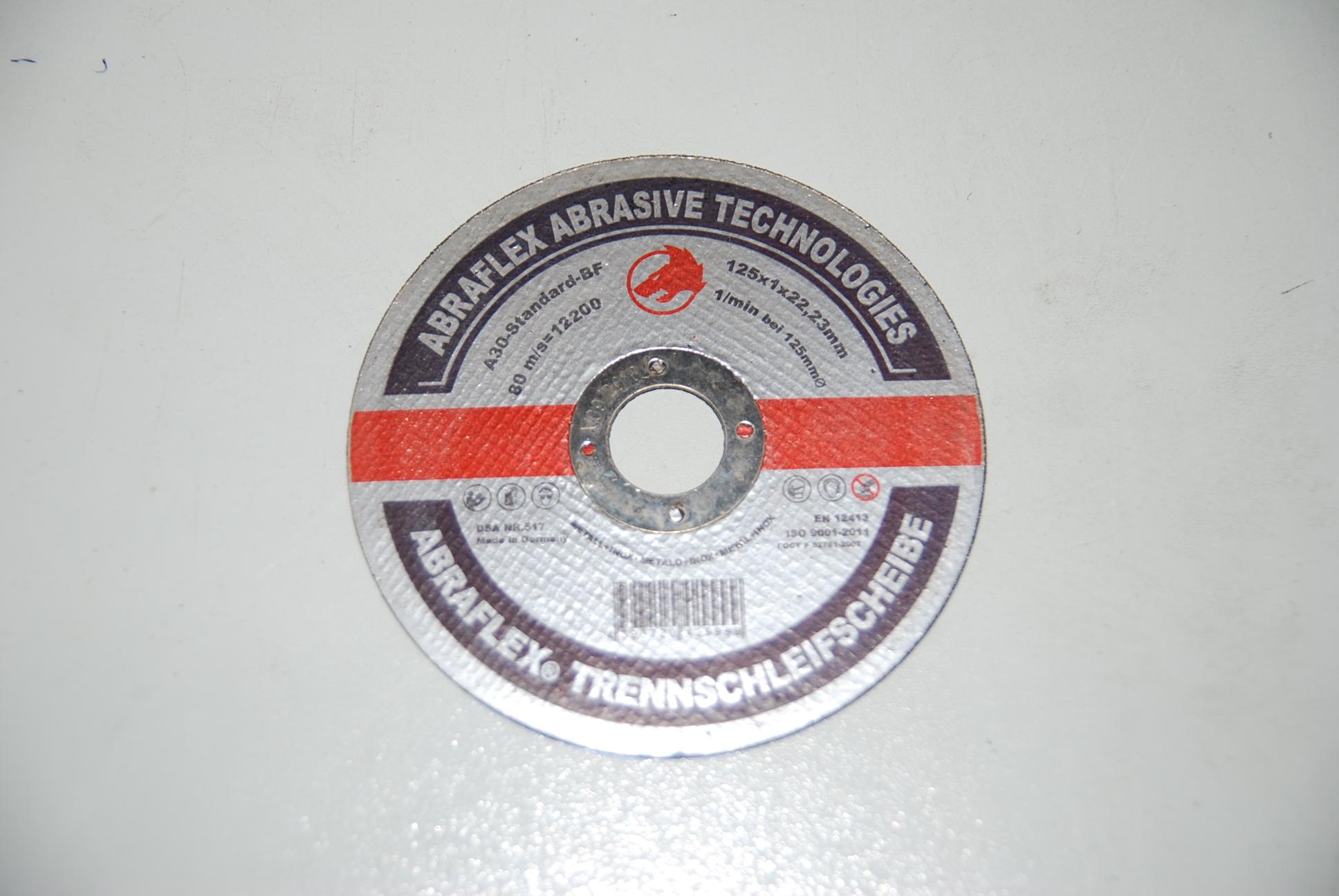 Круг отрезной Abraflex A-30 Standart BF  (металл) 125x1,0x22
