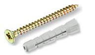 Универсальный дюбель ЕКТ SUPER 6х35, нейлон, с шурупом 4.5х50, 10шт.