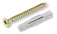 Универсальный дюбель ЕКТ 6х36, полипропилен, с шурупом 4.5х50, 10 шт.
