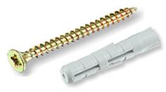Распорный дюбель ЕКТ 6х30, нейлон, с шурупом 4.0x40, 12 шт.