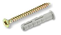 Распорный дюбель ЕКТ 6х30 с бортом, нейлон, с шурупом 4.0х40, 12 шт.