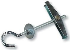 Складной пружинный дюбель ЕКТ 3х50 с полукольцом, 2 шт.