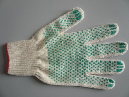 Перчатки трикотажные 4-нитка ПВХ точка 10класс